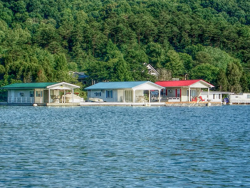 waterside marina norris lake floating houses